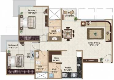 1215 sqft, 2 bhk Apartment in Ajmera And Sheetal Casa Vyoma Vastrapur, Ahmedabad at Rs. 0