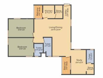 1485 sqft, 2 bhk Apartment in Shrachi Greenwood Nest New Town, Kolkata at Rs. 0