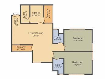 1255 sqft, 2 bhk Apartment in Shrachi Greenwood Nest New Town, Kolkata at Rs. 0