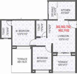 918 sqft, 2 bhk Apartment in Rama Krystal City Moshi, Pune at Rs. 0