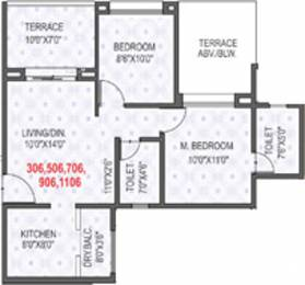 1027 sqft, 2 bhk Apartment in Rama Krystal City Moshi, Pune at Rs. 0