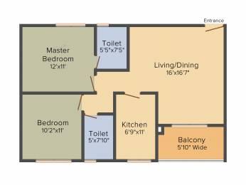 1152 sqft, 2 bhk Apartment in Srijan Ozone Narendrapur, Kolkata at Rs. 0