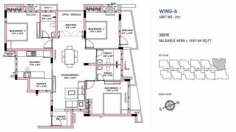 1597 sqft, 3 bhk Apartment in BBCL Nakshatra Perungudi, Chennai at Rs. 0