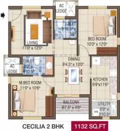 1132 sqft, 2 bhk Apartment in Alliance Galleria Residences Pallavaram, Chennai at Rs. 0