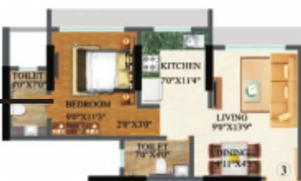 645 sqft, 1 bhk Apartment in Raj Arcades Kalpavruksh Heights Kandivali West, Mumbai at Rs. 0