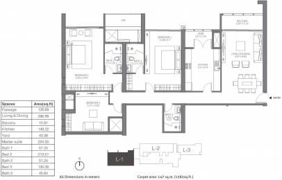 2389 sqft, 3 bhk Apartment in TATA 88 East Alipore, Kolkata at Rs. 0