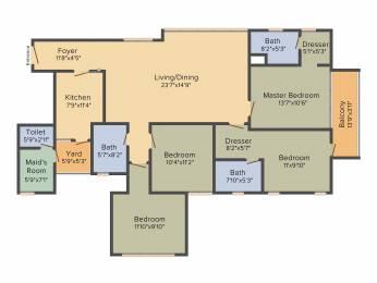 2021 sqft, 4 bhk Apartment in Emami Tejomaya Navallur, Chennai at Rs. 0