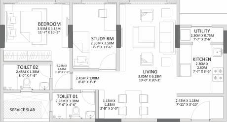 1105 sqft, 1 bhk Apartment in Godrej Prime Chembur, Mumbai at Rs. 0