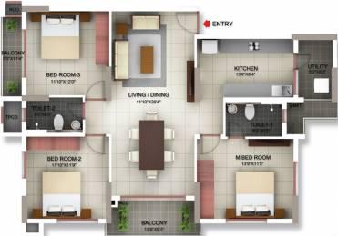 1505 sqft, 3 bhk Apartment in PBEL Siesta Thaiyur, Chennai at Rs. 0