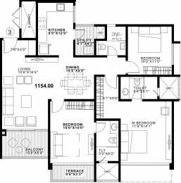 1558 sqft, 3 bhk Apartment in Duville Riverdale Residences I Kharadi, Pune at Rs. 0