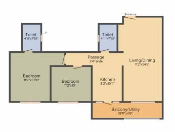 1205 sqft, 2 bhk Apartment in Sobha Gateway Of Dreams Varthur, Bangalore at Rs. 0