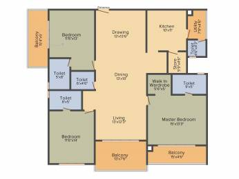 2340 sqft, 3 bhk Apartment in Cybercity Marina Skies Hitech City, Hyderabad at Rs. 0