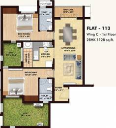 1128 sqft, 2 bhk Apartment in BBCL Midland Sholinganallur, Chennai at Rs. 0