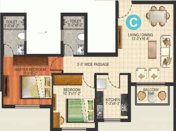 1085 sqft, 2 bhk Apartment in Ideal Aquaview Phase 2 Salt Lake City, Kolkata at Rs. 0