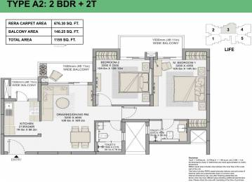 676.3 sqft, 2 bhk Apartment in Eldeco Live By The Greens Sector 150, Noida at Rs. 0
