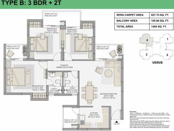 827.75 sqft, 3 bhk Apartment in Eldeco Live By The Greens Sector 150, Noida at Rs. 0