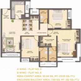 1032.69 sqft, 3 bhk Apartment in Dosti West County Phase 2 Dosti Cedar Thane West, Mumbai at Rs. 0