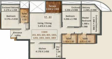1009.65 sqft, 3 bhk Apartment in Kumar Prospera A1 And A2 Hadapsar, Pune at Rs. 0