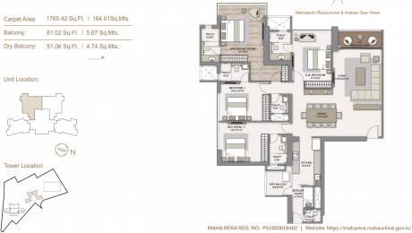 1765.28 sqft, 4 bhk Apartment in Piramal Mahalaxmi Central Tower 2 Mahalaxmi, Mumbai at Rs. 0