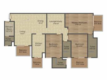 1950 sqft, 3 bhk Apartment in Emaar Palm Gardens Sector 83, Gurgaon at Rs. 0