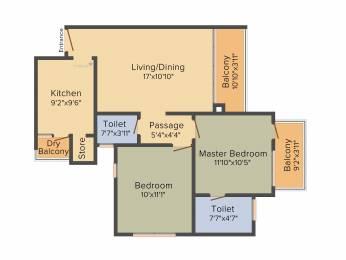 1150 sqft, 2 bhk Apartment in Godrej Garden City Near Nirma University On SG Highway, Ahmedabad at Rs. 0