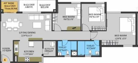 1521 sqft, 3 bhk Apartment in Elita Garden Vista Phase 2 New Town, Kolkata at Rs. 0