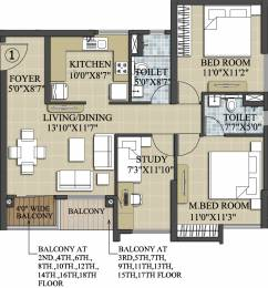 1174 sqft, 2 bhk Apartment in Elita Garden Vista Phase 2 New Town, Kolkata at Rs. 0