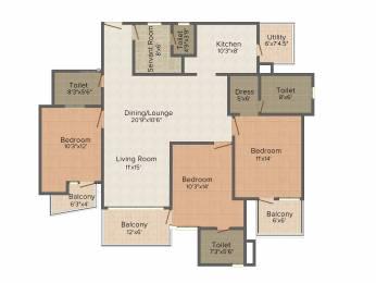 1960 sqft, 3 bhk Apartment in Mapsko Casa Bella Sector 82, Gurgaon at Rs. 0