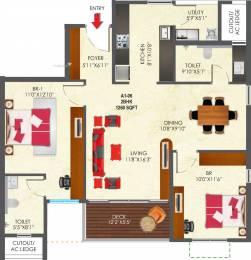 1260 sqft, 2 bhk Apartment in SNN Raj Etternia Harlur, Bangalore at Rs. 0