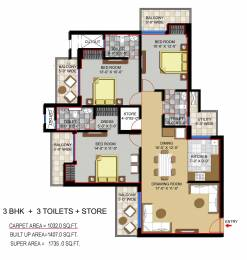 1735 sqft, 3 bhk Apartment in Civitech Stadia Sector 79, Noida at Rs. 0