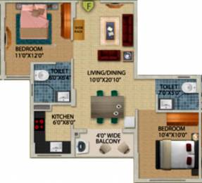 970 sqft, 2 bhk Apartment in Primarc Projects and Srijan Realty and Riya Group Southwinds Sonarpur, Kolkata at Rs. 0