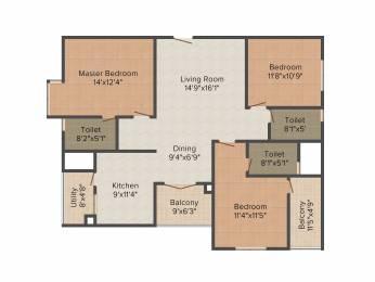 1652 sqft, 3 bhk Apartment in Mahindra Ashvita Kukatpally, Hyderabad at Rs. 0