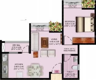 418 sqft, 1 bhk Apartment in Puraniks Abitante Bavdhan, Pune at Rs. 0