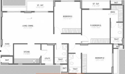 1771 sqft, 3 bhk Apartment in Goyal Orchid Lakeview Bellandur, Bangalore at Rs. 0