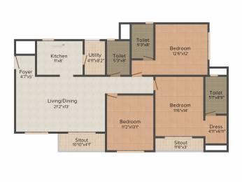 1800 sqft, 3 bhk Apartment in Goyal Orchid Lakeview Bellandur, Bangalore at Rs. 0