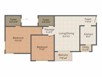 883 sqft, 2 bhk Apartment in Provident Sunworth Kumbalgodu, Bangalore at Rs. 0