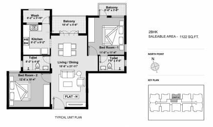 1122 sqft, 2 bhk Apartment in BBCL Ashraya Thoraipakkam OMR, Chennai at Rs. 0