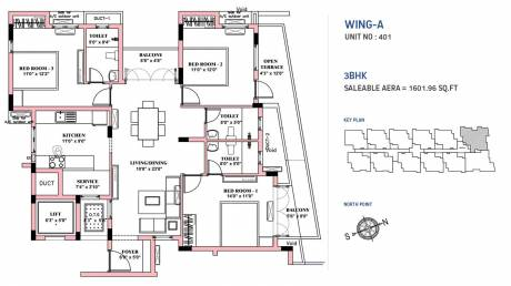 1601 sqft, 3 bhk Apartment in BBCL Nakshatra Perungudi, Chennai at Rs. 0