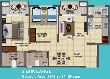 1144 sqft, 2 bhk Apartment in TATA New Haven Ribbon Walk Moolacheri, Chennai at Rs. 0