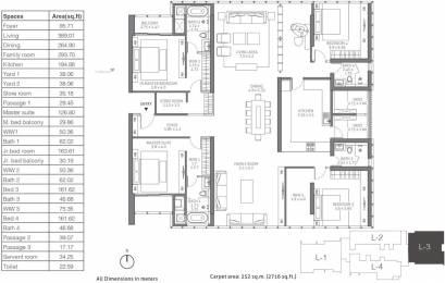 4101 sqft, 4 bhk Apartment in TATA 88 East Alipore, Kolkata at Rs. 0
