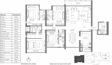 4111 sqft, 4 bhk Apartment in TATA 88 East Alipore, Kolkata at Rs. 0