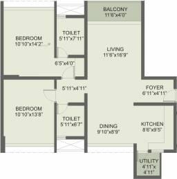 1258 sqft, 2 bhk Apartment in Rohan Iksha Bellandur, Bangalore at Rs. 0