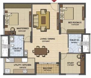 1492 sqft, 2 bhk Apartment in Prestige High Fields Gachibowli, Hyderabad at Rs. 0