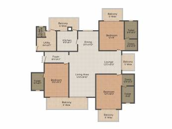 2585 sqft, 3 bhk Apartment in ATS Tourmaline Sector 109, Gurgaon at Rs. 0