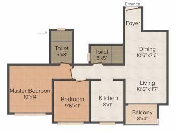 1095 sqft, 2 bhk Apartment in Hiranandani Tiana Navallur, Chennai at Rs. 0