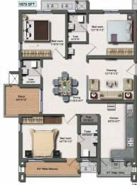 1675 sqft, 3 bhk Apartment in Vertex Panache Kokapet, Hyderabad at Rs. 0