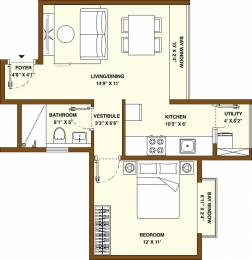 653 sqft, 1 bhk Apartment in Bhartiya Nikoo Homes 2 Kannur on Thanisandra Main Road, Bangalore at Rs. 0