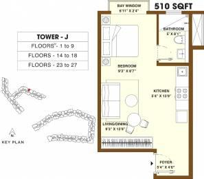 510 sqft, 1 bhk Apartment in Bhartiya Nikoo Homes 2 Kannur on Thanisandra Main Road, Bangalore at Rs. 0