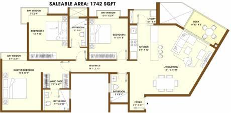 1742 sqft, 3 bhk Apartment in Bhartiya Nikoo Homes 2 Kannur on Thanisandra Main Road, Bangalore at Rs. 0