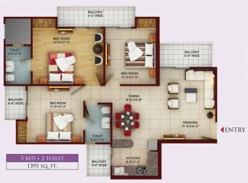 1395 sqft, 3 bhk Apartment in Samridhi Luxuriya Avenue Sector 150, Noida at Rs. 0